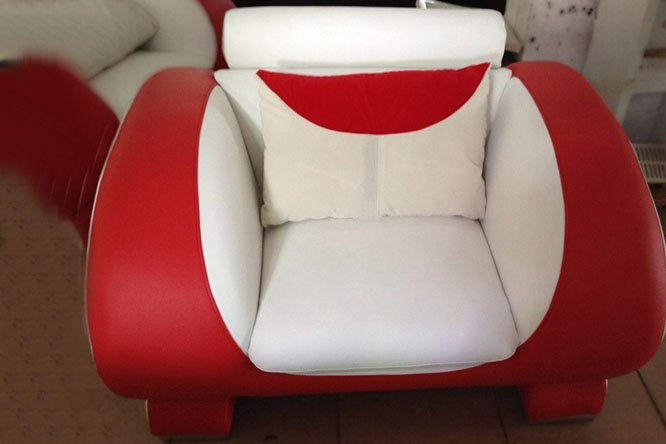 Blossom White And Red Chair