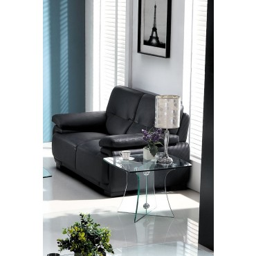 Designer Tempered Clear Glass Side Table