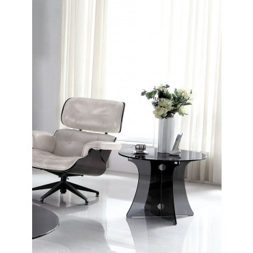 Designer Tempered Grey Glass Side Table