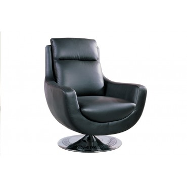 Designer Black Leather Chair