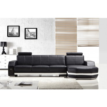 Designer Como Black and white Corner Leather Sofa Suite Diagram