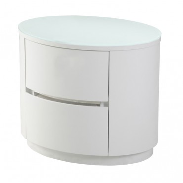 Grace White Nightstand Set of 2 (Soft Closing Drawer System)