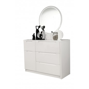 Rugby white Dresser with mirror