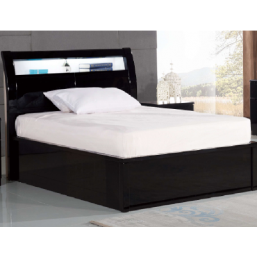 Rugby Black King Bed with LED Light