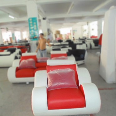 Infinity Red and White 1Seater Manual Recliner Sofa