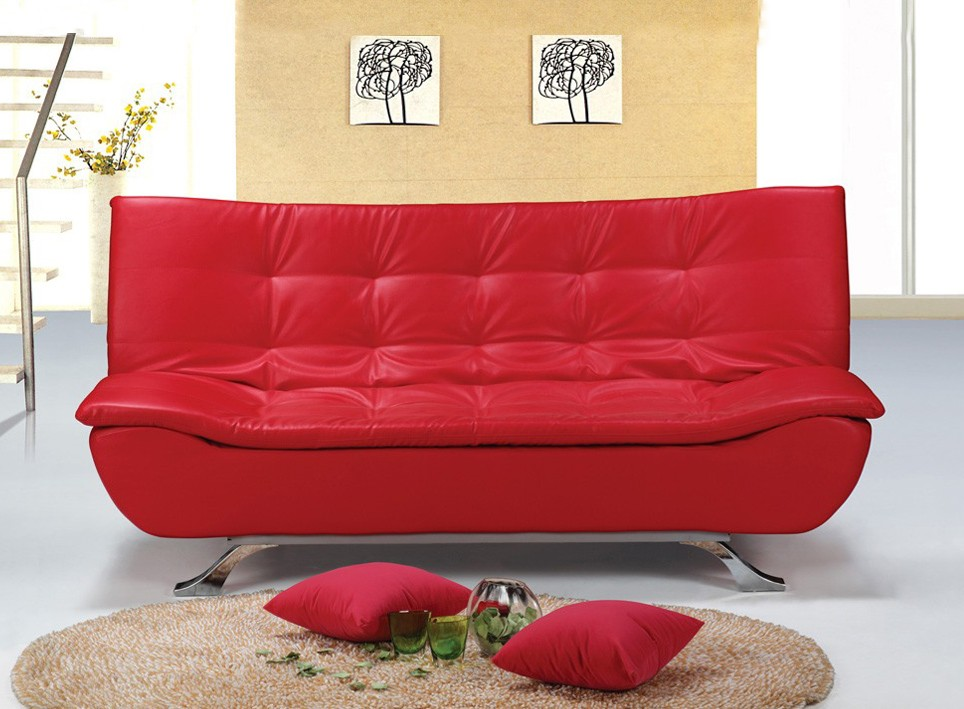 Strange Designer Red Faux Leather Sofa Bed 4 Seater With Removable Download Free Architecture Designs Philgrimeyleaguecom