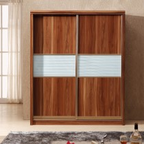 Designer Walnut 100 Percent Solid MDF Wardrobe