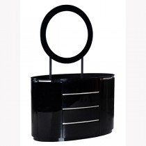 Designer Black Dresser (Soft Closing Drawer System)