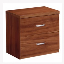 Designer Walnut 100 Percent Solid MDF Wood Bedroom Set