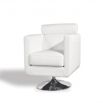 Designer White Leather Chair