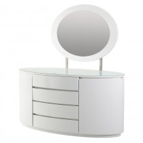 Grace White Dresser (Soft Closing Drawer System)