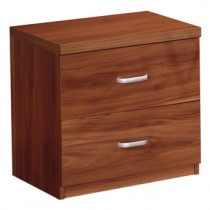 Designer walnut 100 Percent Solid MDF Wood Set of 2 Nightstand