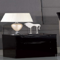 Rugby Nightstand Black