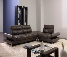 Dark Gery Top Graded Real Leather Corner Sofa Suite