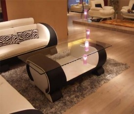 Modern Contemporary Designer Glass Coffee Table