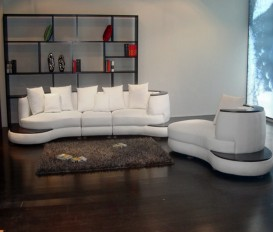 Designer Castle White Top Graded Corner Leather Sofa