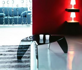 Designer Hot Bending Grey Glass Coffee Table