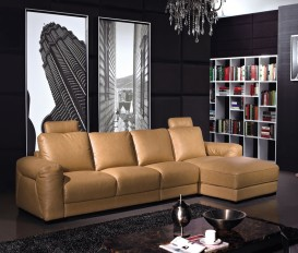 Designer Daisy Hooter Thick Imported Leather Brown Corner Sofa Suite