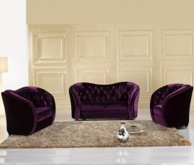 Designer Desire Purple Sofa Suite 1+2+3Seater