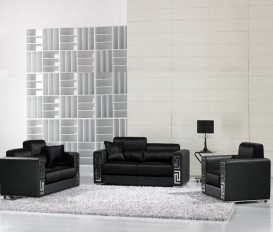 Designer Febrico Black Fabric Sofa