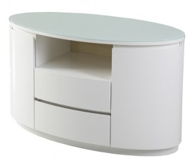 Designer Grace White TV Stand (Soft Closing Drawer System)