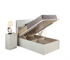 Rugby white King Size Bed