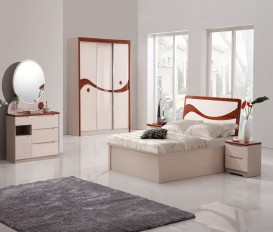 Rugby Bedroom Set King Size Bed with Full Storage Dressing+ Wardrobe+ Night stands