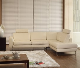 Designer Riva White Leather Corner Sofa Suite
