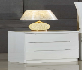 Rugby Nightstand White