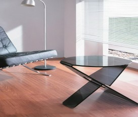 Designer Hot Bending Gray Glass Coffee Table