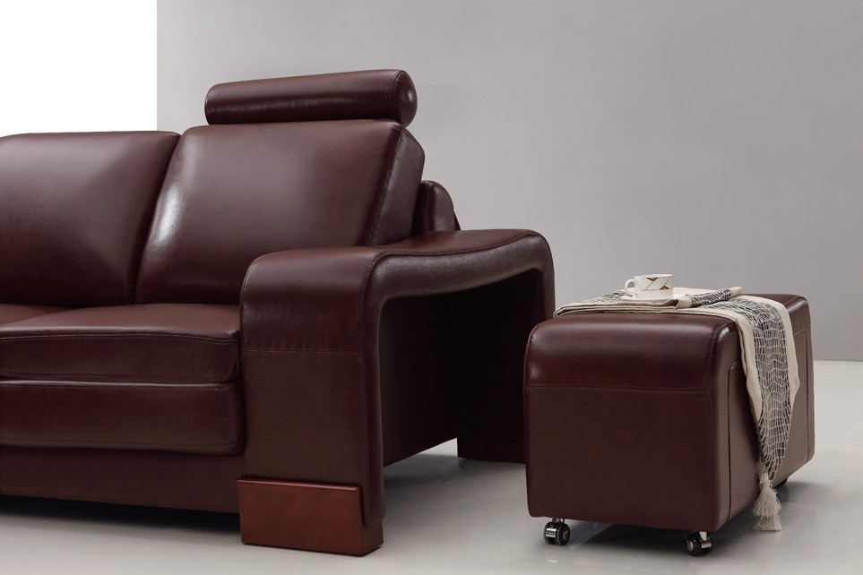 Designer Sorrento Brown Top Graded Real Leather Corner